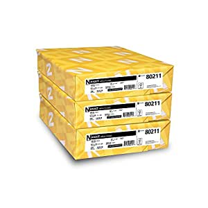 "Neenah Exact Vellum Bristol, 8.5"" x 11"", 67 lb/147 gsm, White, 94 Brightness, 750 Sheets, 3 Pack (80211)"