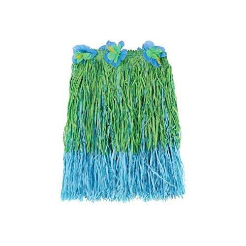 [Amscan Hawaiian Summer Luau Party 2-Tone Child Hula Skirt (1 Piece), Blue/Green, 16 x 7.3