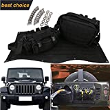 Tailgate Multi-Pockets Storage & Tool Cargo Carrier Bags for Jeep Wrangler JK 2007-2017 Waterproof