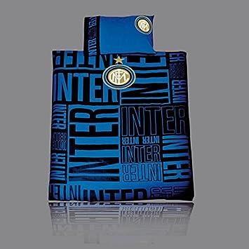 Copripiumino Inter Singolo.Set Copripiumino Inter Sui Toni Del Nero Azzurro Per Amazon Co Uk