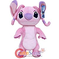 "Disney Lilo And Stitch Angel Jumbo 17"" Plush/Crossbody Bag- Pink"