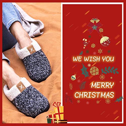 ULTRAIDEAS Women's Cozy Memory Foam Slippers Fuzzy Wool-Like Plush Fleece Lined House Shoes w/Indoor, Outdoor Anti-Skid…