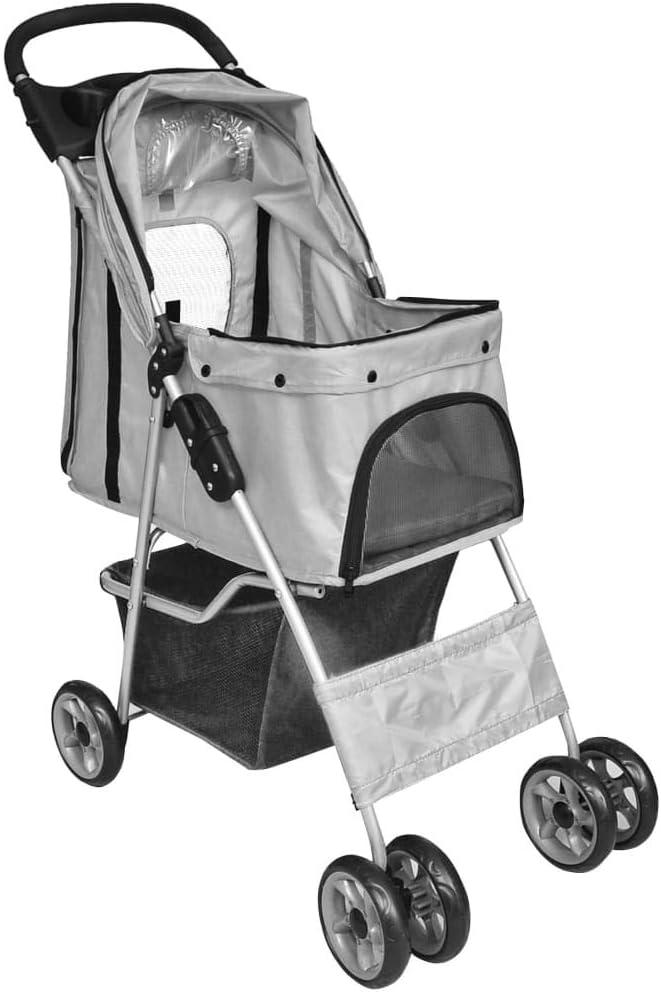 Goliraya Folding Pet Stroller Dog//Cat Travel Carrier Dog Pushchairs Dog Pram Grey
