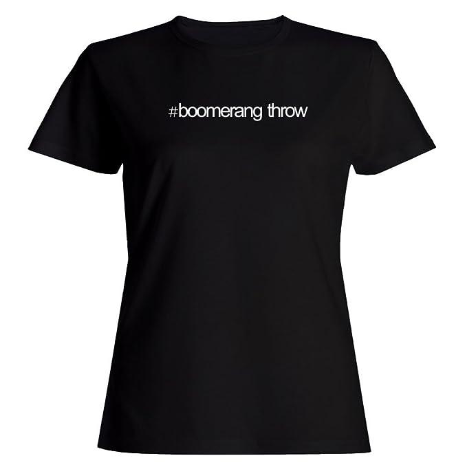 Idakoos Hashtag Boomerang Throw - Deportes - Camiseta Mujer: Amazon.es: Ropa y accesorios