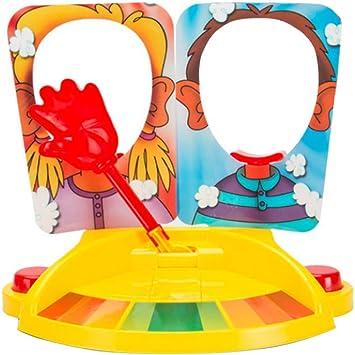 1 juego Pie Face Juegos de mesa dobles Pie Face Showdown Juegos de mesa Juguetes Tricky Doble Crema mascarilla del partido de la familia juego interactivo: Amazon.es: Juguetes y juegos
