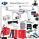 DJI Phantom 4 Pro Explorers II Bundle: Includes High Capacity Intelligent Flight Battery, Spare Battery, Backpack Case Pack - Red, Sun Shade, High Speed 32GB MicroSD Card and more...