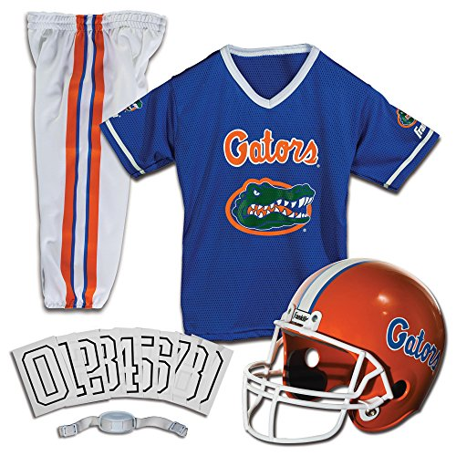Franklin Sports Florida Gators Kids College Football Uniform Set - Youth NCAA Uniform Set - Includes Jersey, Helmet, Pants - Youth Medium