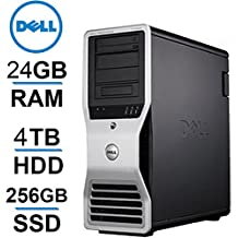 Windows 10 Dell Workstation | 8 CORE COMPUTER | Precision T7500 | 2 X Intel QUAD CORE Xeon up to 3.33GHz | 256GB SSD |*NEW* 4TB HDD | 24GB DDR3 RAM - 4 Monitor Capable, USB 3.0 -REFURBISHED