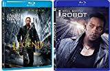 I, Robot (Widescreen Edition) [Blu Ray] (2007) & I Am Legend (Widescreen Single-Disc Edition) Sci-Fi Will Smith DVD Movie Set