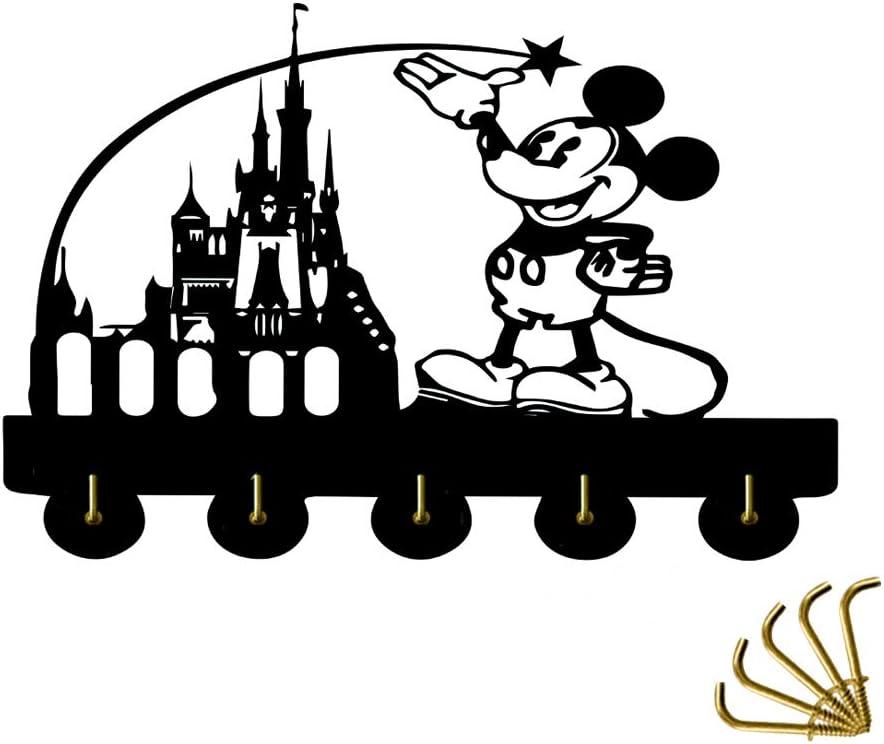 Disney Castle Theme Wall Decor Hooks Customize Household Door Decor Hooks Multi-Function Wall Coat Bags Clothes Hook Keys Holder