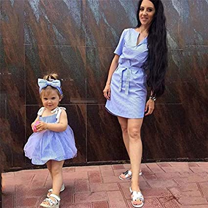 86afb29607af4 2018 Newly Mother Daughter Dresses Matching Outfits Mommy and Me ...