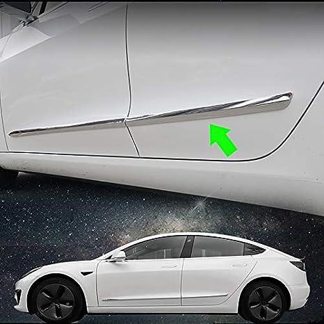 HIGH FLYING f/ür Tesla Model 3 2017 2018 2019 Exterieur Seiten Zierleisten ABS Kunststoff 4 St/ück Kohlefaserfarbe