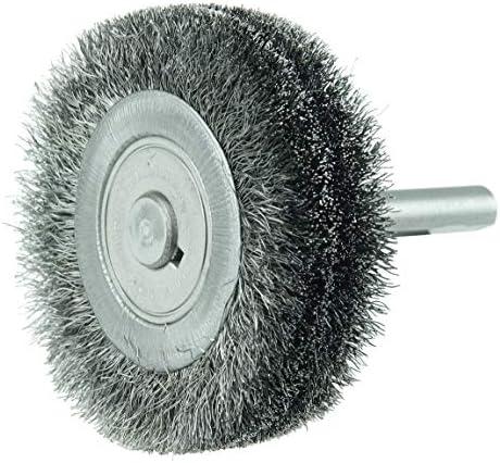 Weiler bore-rxスチールホイールブラシ–0.008in Bristle DiaシャンクAttachment–3in OD & 6000Max RPM–17218[価格はブラシごと]