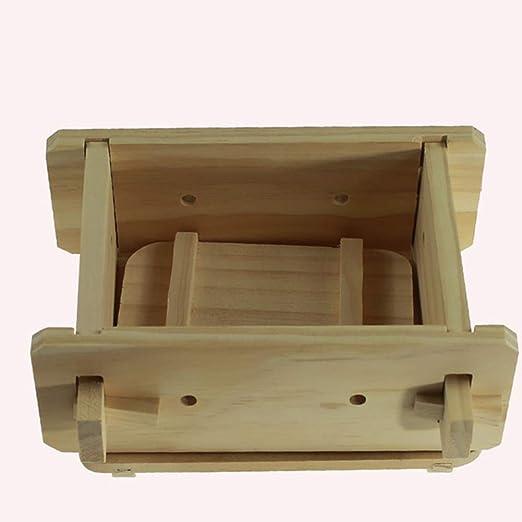 Tofu Maker - Molde de prensa para hacer soja (madera) 16x12x9cm As ...