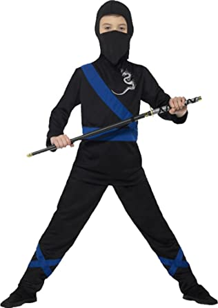 1ad637c0e Boy's Japanese Samurai Warrior Fancy Dress Party Outfit Ninja Assassin  Costume: Amazon.co.uk: Clothing