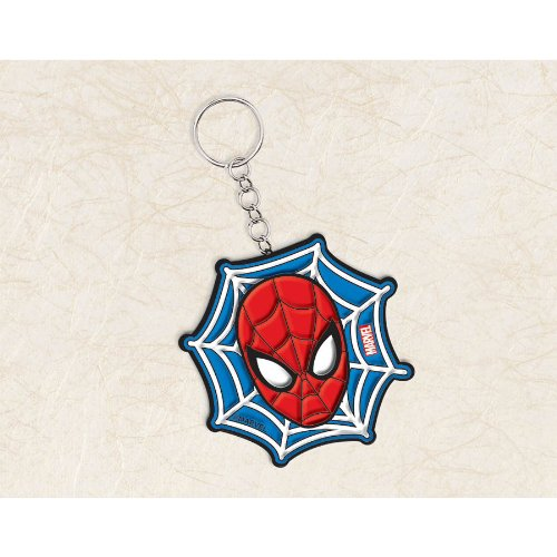 Amscan Ultimate Spider Man Character Key Chain Birthday Party Favor (1 Piece), 3 1/2