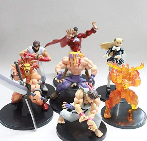 PVC Action Figure Ryu Alex M. Bison Street Fighter Figure Toys Dolls Set of 7