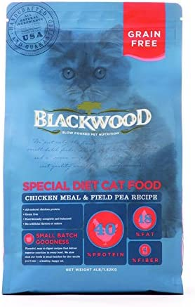 Blackwood Special Diet Cat Food, Grain Free, Chicken Meal Field Pea Recipe, 4Lb.