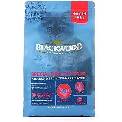 Blackwood Special Diet Cat Food, Grain Free, Chicken Meal & Field Pea Recipe, 4Lb.