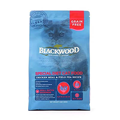 Blackwood Special Diet Cat Food, Grain Free, Chicken Meal & Field Pea Recipe, 4Lb.