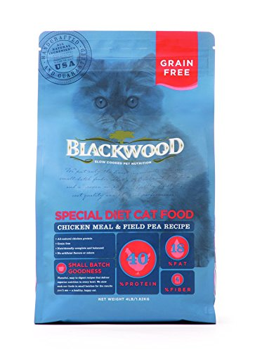 Chicken Meal Recipe (Blackwood Special Diet Cat Food, Grain Free, Chicken Meal & Field Pea Recipe, 4lb.)