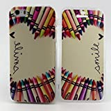 iPhone 5S Case, Sophia Shop Premium Flip Folio TPU GEL Protective Case Flexible Soft Ultra Fit Slim Anti-Scratch Cover For Apple iPhone 5/5S (Pencil and Smile)