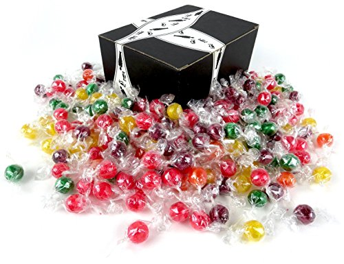 Quality Candy Assorted Sour Balls, 2 lb Bag in a BlackTie Bo