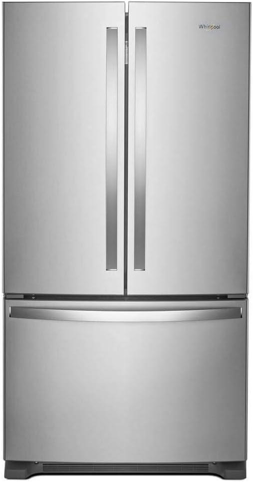 "'Whirlpool 36"" Fingerprint Resistant Stainless Steel French Door Counter Depth Refrigerator'"