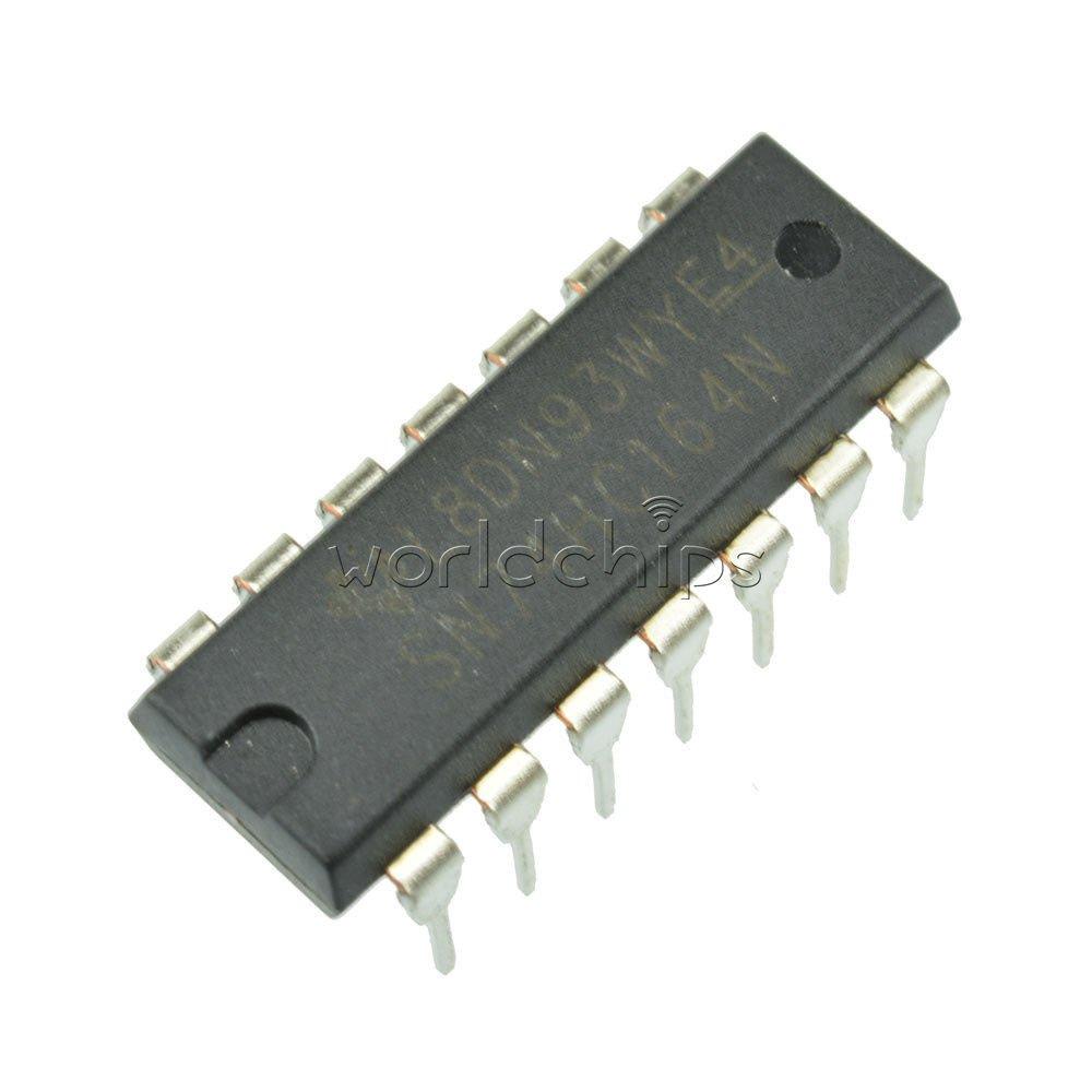 20PCS SN74HC164N 74HC164 IC 8-BIT SHIFT REGISTER DIP 14 Parallel-Out New