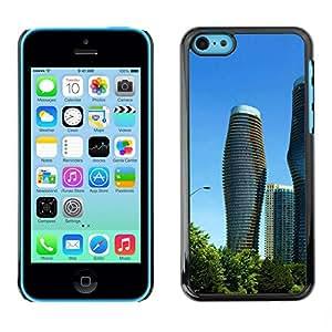 TopCaseStore / la caja del caucho duro de la cubierta de protección de la piel - Architecture Modern City Towers - Apple iPhone 5C