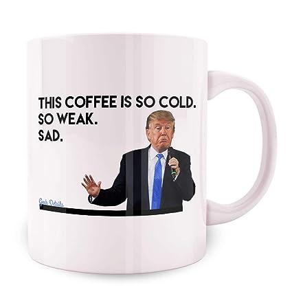 29d6381240f Amazon.com: Anti Trump Themed Coffee Mug, 11 Oz, White (Bigly Deal ...
