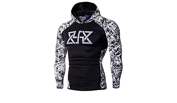 Amazon.com: WM & MW Mens Fitness Muscle Hoodie Fashion Patchwork Sweatshirts Hoodie Pullover Bodybuilding Shirts Tops (White,M): Clothing
