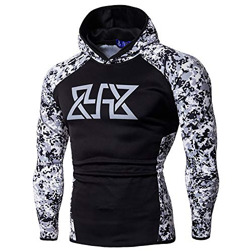 Fxbar,Men's Athletic-Fit Hoodie Fashion Cool Sport Outwear Sweatshirts Hoodies for Men