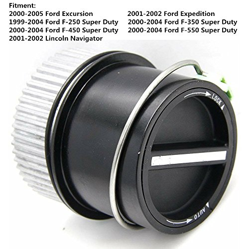Auto Automatic Locking Locks Hub 4WD Link Front Left Right for 1999-2004 Ford F250 F350 F450 F550 Super Duty, 2001-2002 Expedition Navigator, 2000-2005 Excursion - Replaces# 1C3Z-3B396-CB 600203