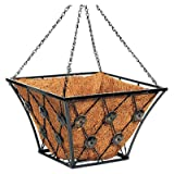 14'' SQ FLT Iron Basket