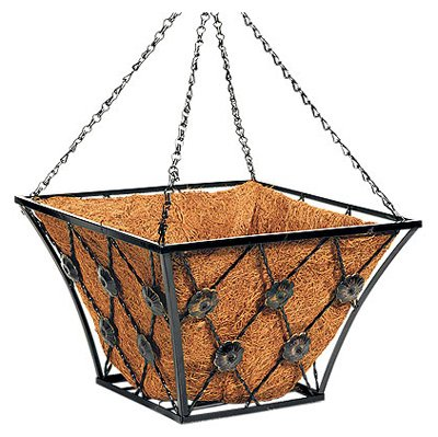 14'' SQ FLT Iron Basket by Panacea Products