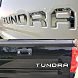 #7: Auto safety Tailgate Insert 3D Metal Letters Letters Fits 2014-2018 Toyota Tundra (Chrome)