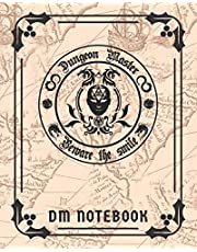 Dungeon Master Beware The Smile DM Notebook: DnD Character Journal With 50 Character Sheets and 100 Mixed Pages (Lined, Graph, Hex & Blank)For Role Playing Fantasy Games To Create RPG Terrain Maps & Characters, Track 5e Gameplay, Plans, Spells & More