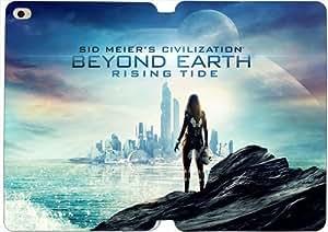 [PU del tirón del cuero] del iPad Mini 4 funda Sid Meier Civilization Más allá de la Tierra Rising Tide [Theme] GJ1330