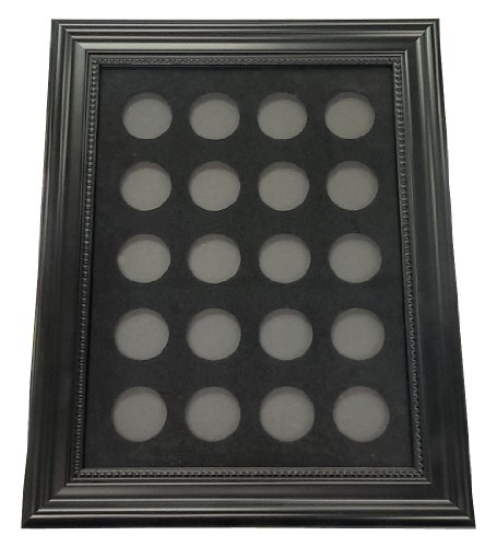 Casino Chip Insert - 20 Casino Chip 9'' x 12'' Display Board Case with Frame Included by Spinettis