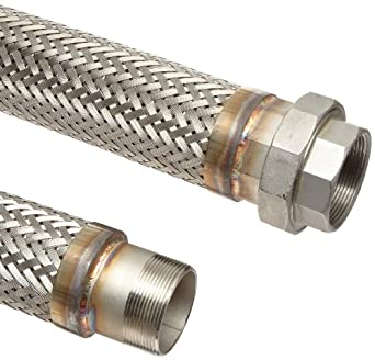 Unisource SF21 Stainless Steel Cryogenic Liquid Transfer Hose Assembly, Stainless Steel NPT Male x NPT Female Connection