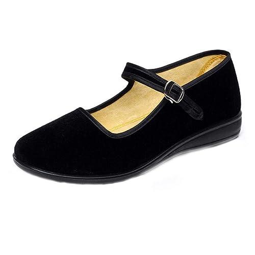 Zapatos Trabajo Mujer Huicai Tela De SUqzVGMp