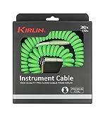 "KIRLIN Cable IMK-202PFGL-30/GRF 1/4\"" Premium Coil Instrument Cable, 30\"