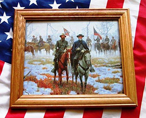 Civil War Painting. Generals Robert E Lee, James Longstreet at Fredericksburg - War Paintings Civil