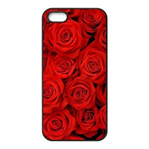 Customized case Of Colorful Rose Hard Case for iPhone 5,5S