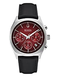 Bulova Men's Accutron II 96B238 Black Leather Quartz Watch