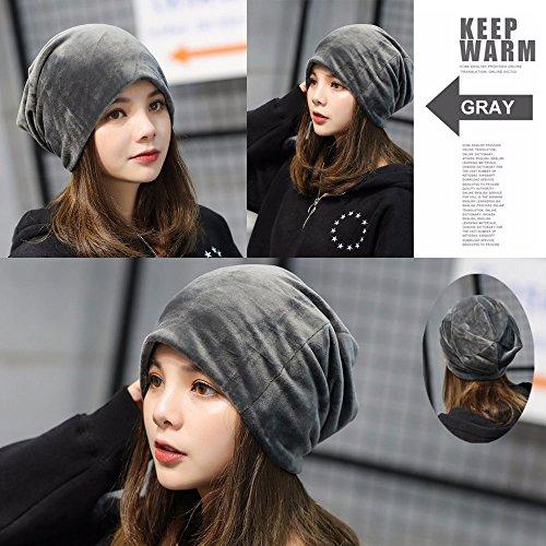 Komene Flannel Unisex Beanie hat  The Softest Winter Hat Add Warm Velvet  Protection   Slouchy a794f8b6a820