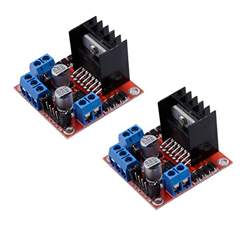 Qunqi 2Packs L298N Motor Drive Controller Board Module Dual H Bridge DC Stepper For Arduino ()