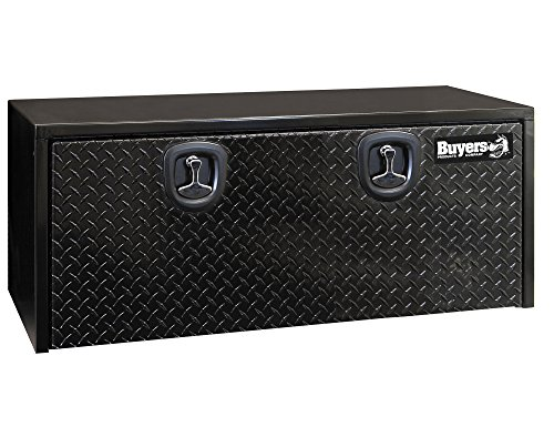 Buyers Products Black Steel Underbody Truck Box w/ Aluminum Door (18X18X48 Inch) ()