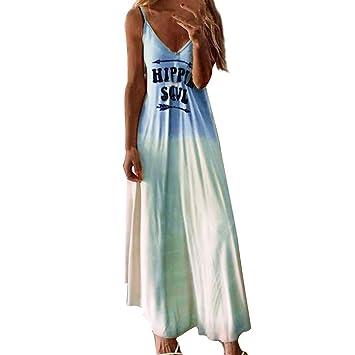 SMILEQ Vestido de Mujer Talla Grande Hippie Soul Letra Falda con ...